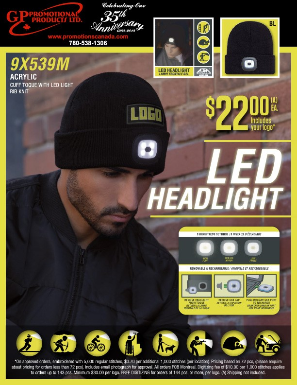 TOQUES WITH LED LIGHT